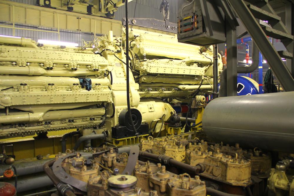 Дизельный двигатель М507 на собственном испытательном стенде предприятия